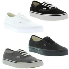 70ced96af56 Vans Authentic Mens Womens Black White Canvas Skate Trainers Shoes Size UK  4-15
