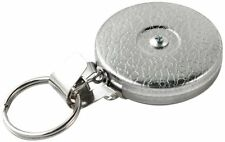 Key-bak #5h Chrome Retractable Reel With 24 Inch Stainless Steel Chain Keys Clip