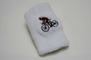 12 pieces Cycling Cotton Wristband Sweatband Embroidered Logo Wholesale