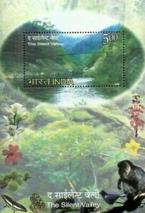 [SJ] The Sillent Valley India 2009 Flora Fauna Monkey Butterfly River (ms) MNH