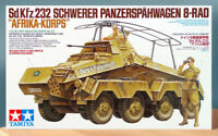 "Tamiya 1/35 German 8-Wheeled Heavy Armored Car Sd.Kfz.232 ""Africa-Corps"" 35297"