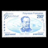 French Polynesia 1995 - Death of Louis Pasteur, Chemist - Sc 658 MNH