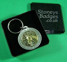 HORSES HEAD English Pewter Keyring  FREE UK POST Equine Pony Sport Key Ring