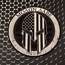 """USA Molon Labe 3% Sticker Come and Take It Domed Decal car Emblem 3D 3"""" America"""
