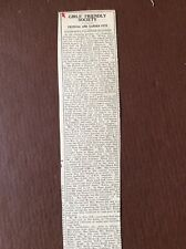 B8c Ephemera 1929 Article Falmouth Girls Friendly Society Wilson Lloyd Fox