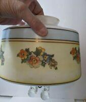 "Antique Art Deco Decorated Milk Glass Hanging Light Fixture Globe Shade 4"" Top"