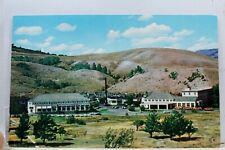 Yellowstone National Park Mammoth Springs Hotel Postcard Old Vintage Card View
