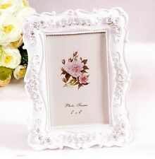 "Pastoral Style 4x6"" Photo Frame Ivory Rose Flower Decoration Square Shape"