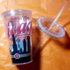 Fannie Mae Chicago Skyline 16 Oz Reusable Tumbler W/ Lid And Straw FREE SHIPPING