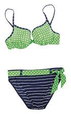 Maritimer Bikini mit Bügel Gr. 38D von OLYMPIA! NEU! Blau, Weiss, Grün