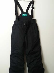 CHILD'S MOUNTAIN WAREHOUSE AGE 9-10 YEAR BLACK SALOPETTES SNOW SKIING SKI SUIT