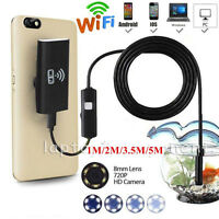For iPhone X 8 7 6 6LED/8LED Wireless Endoscope WiFi Borescope Inspection Camera