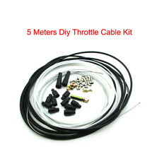 5 Metres Motorcycle Diy Throttle Cable Kit Nipples Ferrules For Pit Dirt Bike
