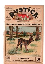 PLANCHE COULEUR DESSIN  LAJARRIGE 1933 LE CHEVREUIL SA CHASSE AU CHIEN COURANT