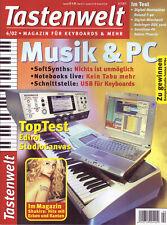 "Tastenwelt 04 2002  Musik & PC / Workshop Noten Sasha ""Turn It Into Something..."
