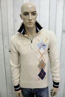LA MARTINA Maglione Uomo Taglia M Lana Casual Inverno Pull Pullover Sweater Man