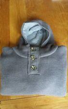 Mens designer firetrap hooded chunky knitwear size xl colour grey sale cheap