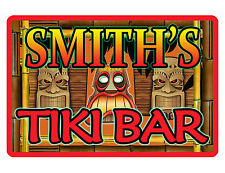 PERSONALIZED TIKI BAR SIGN DURABLE ALUMINUM NO RUST FULL COLOR CUSTOM SIGN