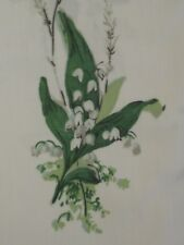 "SANDERSON CURTAIN FABRIC DESIGN ""Muguet"" 50cm x 100cm EMERALD/IVORY 100% COTTON"