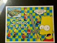 Vintage The Simpsons 3-D Chess Set 100% Complete Board Game, 1992