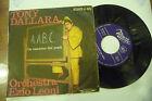 """TONY DALLARA""""LA CANZONE DEI POETI/AABC-disco 45 giri MUSIC 1959"""""""