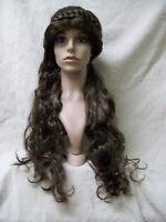 Brown Medieval Beauty Wig Renaissance Lady Princess Viking Norse Maiden Peasant