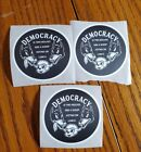 DEMOCRACY Stickers: Two Wolves And A Sheep 🐑 LOT OF THREE political Bumper...