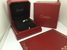 CARTIER LOVE Ring Gr.53 750/000 WEISSGOLD mit 3 Brillanten Box + Zertifikat