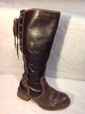 Tamaris Brown Knee High Leather Boots Size 36
