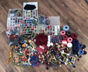 Enormous Lot 1000+ DMC, JP Coats Embroidery Cross Stitch Thread/Floss & Tapestry