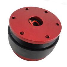 Universal 6 Bolt Steering Wheel Quick Release Hub Adapter Ball Bearing Red Kit