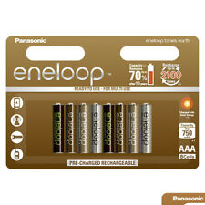8x Panasonic Eneloop EARTH Tones AAA batteries 750mAh Rechargeable NiMh BK-4MCCE