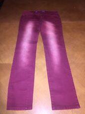 Celebrity Pink red burgundy acid wash denim jeans slim straight leg  size 9