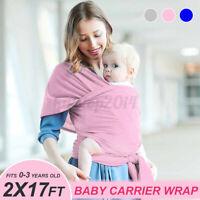 Soft Newborn 100% Cotton Safe Stretchy Baby Wrap Carrier Infant Sling Backpack