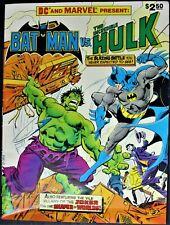 DC SPECIAL SERIES #27 BATMAN VS THE INCREDIBLE HULK 1981 TREASURY EDITION VF-