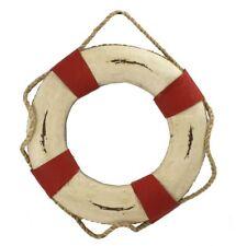 """15.25"""" White & Orange Decorative Hanging Life Ring Decor Lifering Nautical Float"""