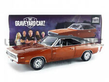 Gaveyard Carz 1970 Dodge Chargeur R/t Foncé Orange Brûlé 1 18 Greenlight 19077
