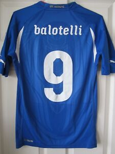 Puma 2010 Italy Mario Balotelli Player Issue Soccer Jersey