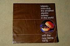 Marklin Mini-Club Catalog - 1978