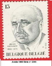 Année 1988  Timbre poste Jean Monnet (1888-1979) N° 2393