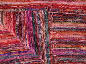 Hand Loomed Vintage Rag Rug Large Carpet Runner Area Rug 4x6 Oriental Throw Rug