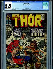 Thor #137 CGC 5.5  Marvel 1967 1st Ulik Kirby Art Amricons B18