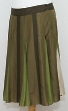 Phase Eight Silk Green Flared Skirt Size 14 Lined
