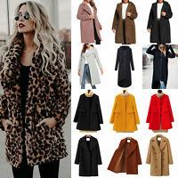 Womens Faux Fur Outwear Winter Sweater Overcoat Coat Jacket Cardigan Parkas Tops