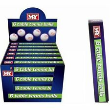 Table Tennis Ping Pong Balls in White Play Toy, Pack of 6 Balls, NEW