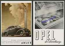 o. Farbreklame Bernd Reuters Auto ADLER 2,5 L Stromlinie Berlin Siegessäule 1939