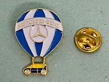 Mercedes Benz Pin Hot Air Balloon A-Class Varnished Golden White Blue Dimensions