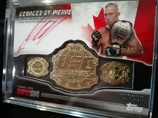 RARE! SIGNED Georges St. Pierre 'GSP' auto card 2011 Topps UFC Toronto Fan Expo