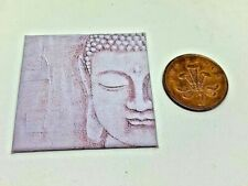 HANDMADE MINIATURE DOLLS HOUSE ACCESSORY CANVAS STYLE PICTURE BUDDHA STATUE