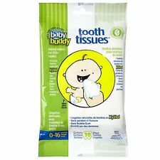 Baby Buddy Tooth Tissues Stage 1 for Baby/Toddler, Bubble Gum Flavor Kids Love,
